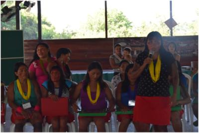 Mulheres wajãpi se pronunciam no II Encontro de Mulheres do Amapá e Norte do Pará