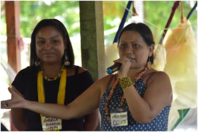 Angela Kaxuyana e Nara Baré falam a respeito da participação das mulheres no movimento indígena