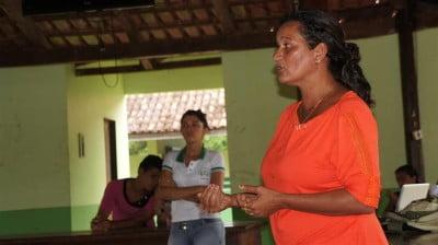 Rita, conselheira do Mosaico, em fala na EFAPEN