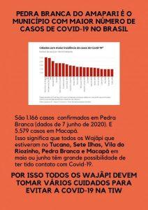 Material informativo sobre Covid-19 para os Wajãpi