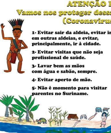 Posters informativos para os povos indígenas sobre a Covid-19